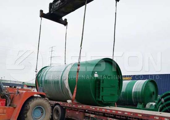 The plastic pyrolysis plant